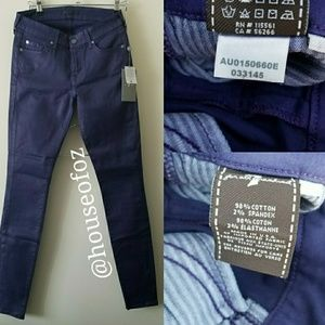 7 For All Mankind Coated Skinny Pant